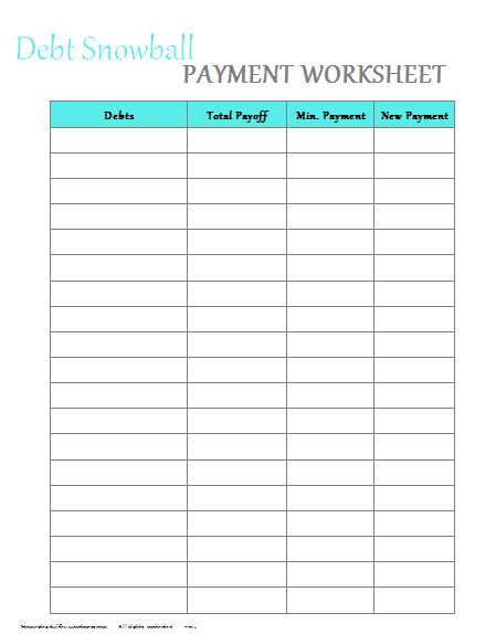 To Download here snowball worksheet