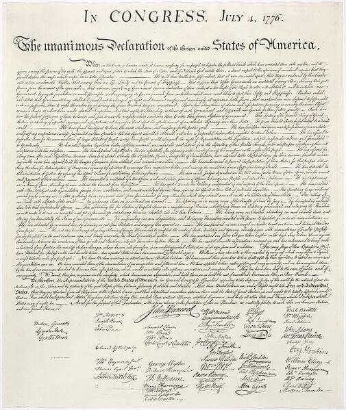 Us declaration independence The Declaration of Independence was written