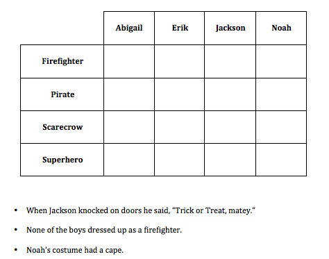 Teaching Deductive Reasoning To Young Children FREE Halloween Activity