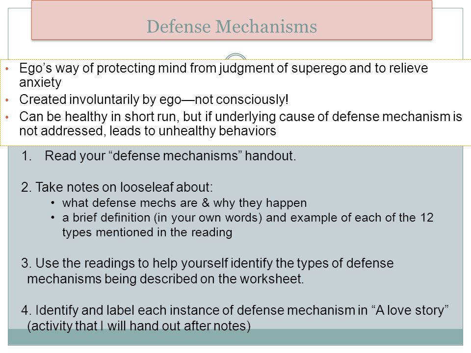 15 Defense Mechanisms