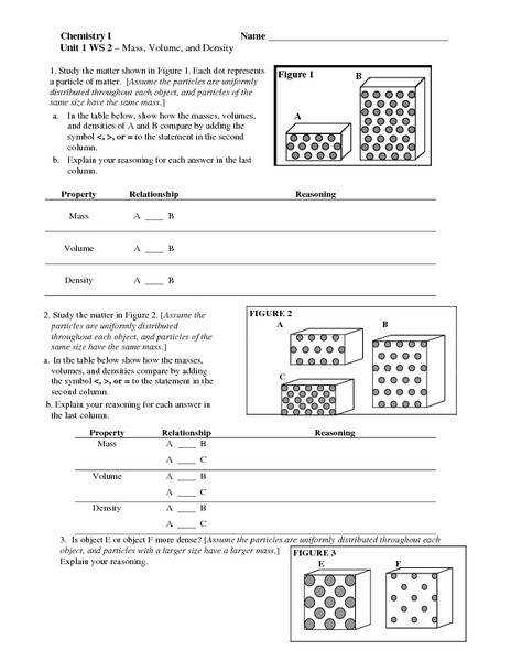 density worksheet middle school. Black Bedroom Furniture Sets. Home Design Ideas