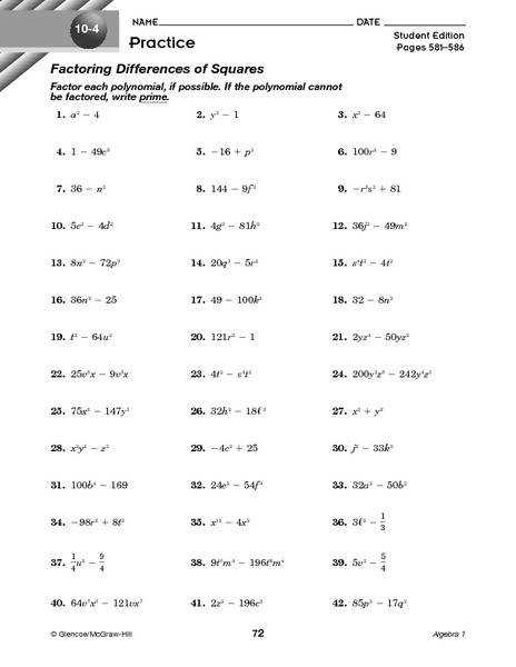 difference of two squares worksheet laveyla