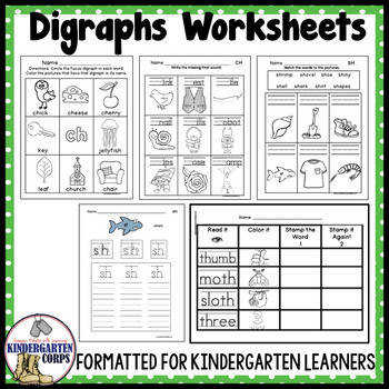 Digraph Worksheets Sh Ch Th Wh Ph EE OO
