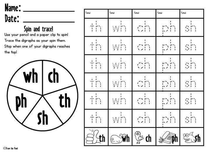 Awesome Collection of Free Digraph Worksheets For Example