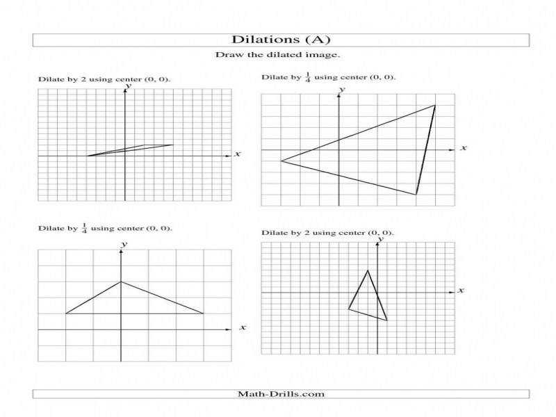 mon Worksheets Dilations And Scale Factors Independent
