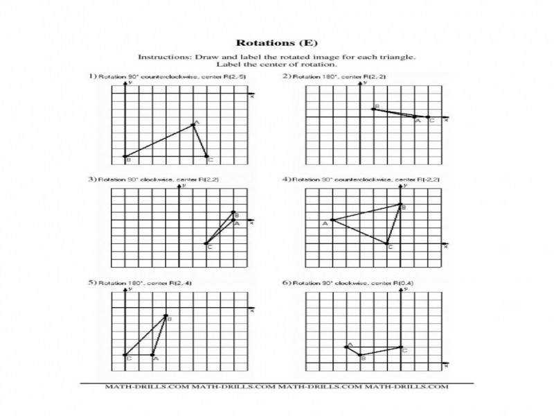 Extraordinary Dilations Worksheet 8Th Grade Worksheets