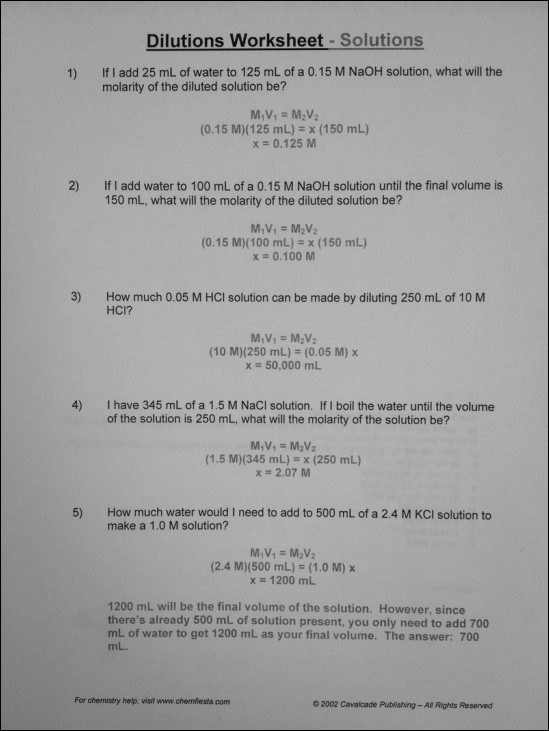 Dilutions Worksheet Answer Key With Work Stay At Hand. Dilutions Worksheet Answer Key Kidz Activities. Worksheet. Parts Per Million Worksheet At Mspartners.co