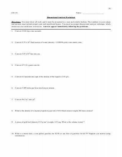 Dimensional analysis worksheet preview tech sites for teaching is a method of problem solving it way to analyze and solve problems using the units or