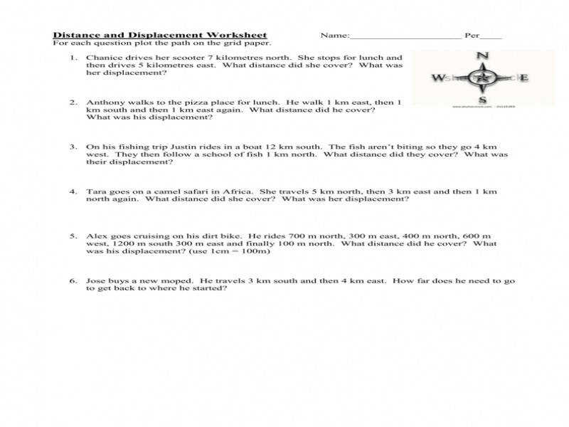 Displacement Worksheet