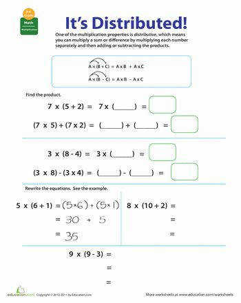 Distributive Property Worksheets SimplifyWorksheets
