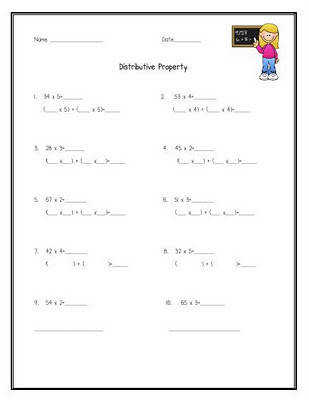 Distributive Property Freebie Many students do this instinctively not realizing that they are using the