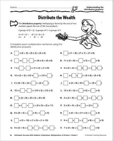 Printable Property Worksheets for Math Practice