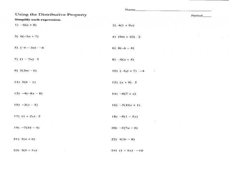 Distributive Property Worksheets Pdf – Mediafoxstudio
