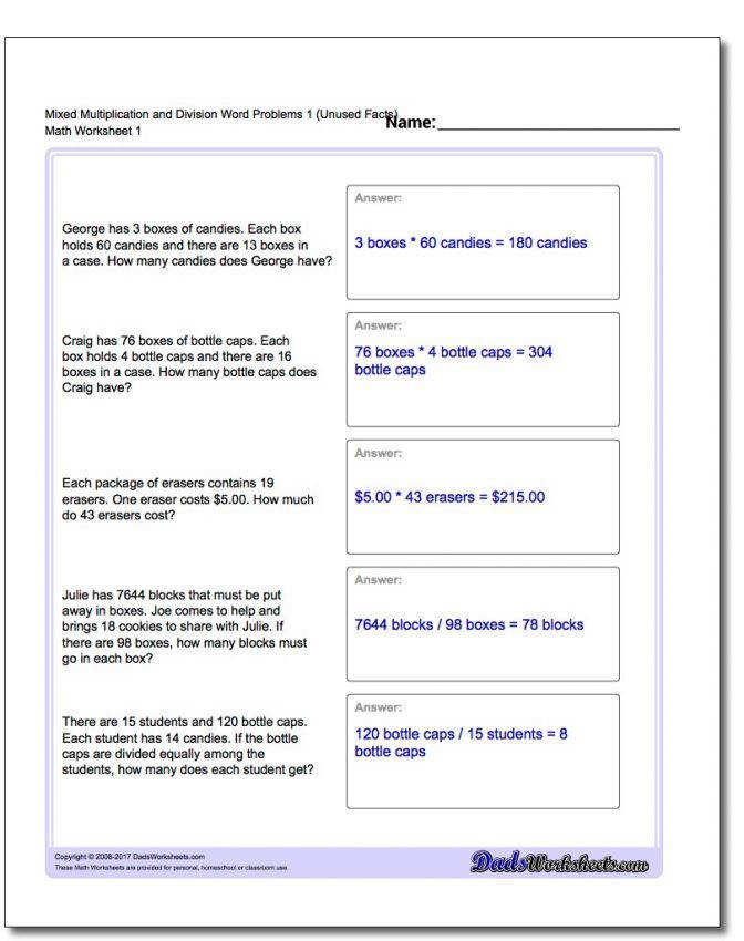 Word Problems Dividing Decimals Worksheet Extra Facts Mixed Multipy Divide O Dividing Decimals Word Problems Worksheet