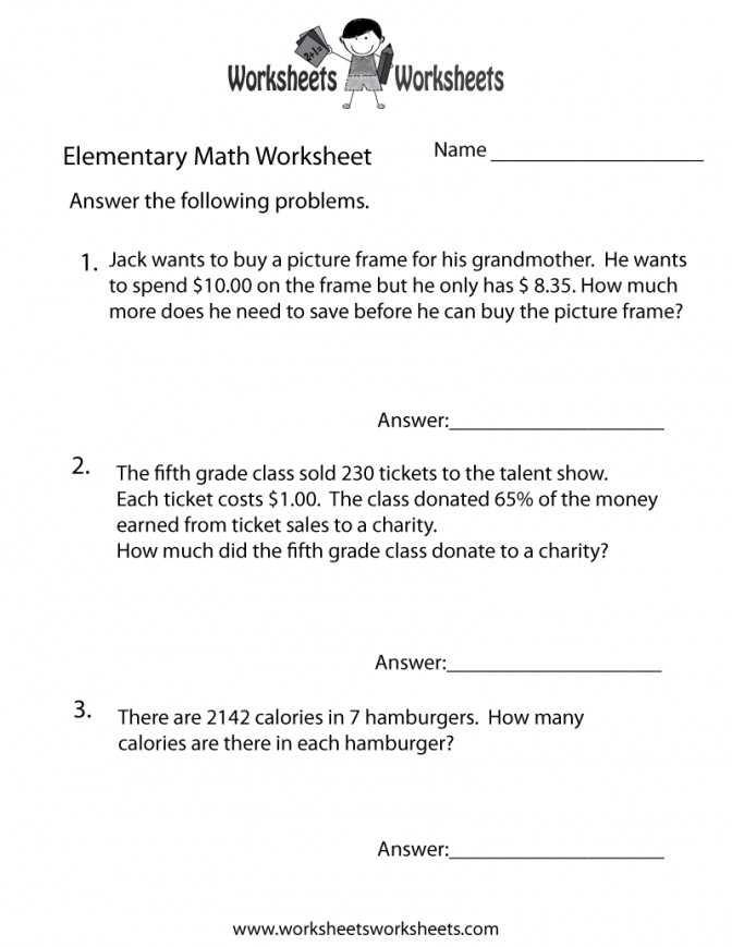 Math Word Problems Worksheet Free Printable Educational Dividing Decimals By Whole Numbers Workshe Dividing Decimals Word