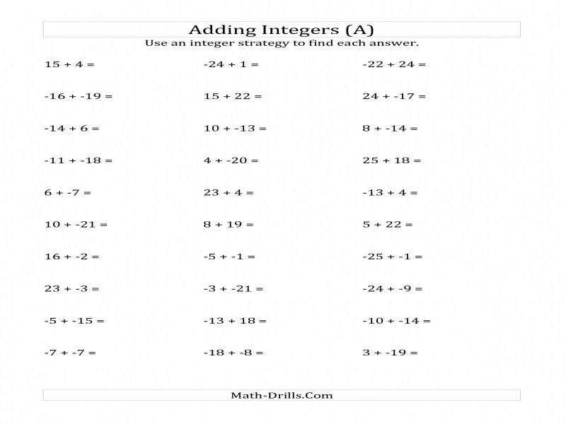 Adding Integers From 25 To 25 No Parentheses A