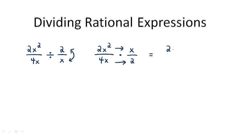 Division of Rational Expressions Video Algebra