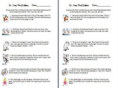 Best Solutions of Dr Seuss Math Worksheets About Download Proposal