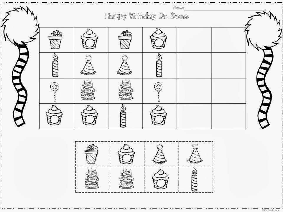 Dr Seuss Kindergarten Worksheets