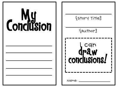 Drawing Conclusions Scholastic Printables
