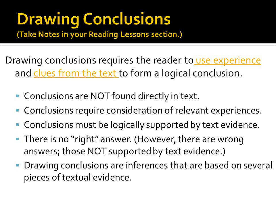 4 Drawing conclusions