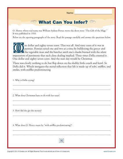 Drawing a Conclusion Printable Worksheet Activity to Improve Reading prehension