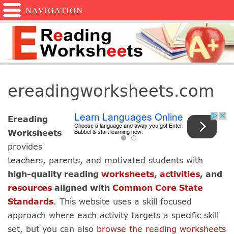Ideas Collection E Reading Worksheets Download Resume