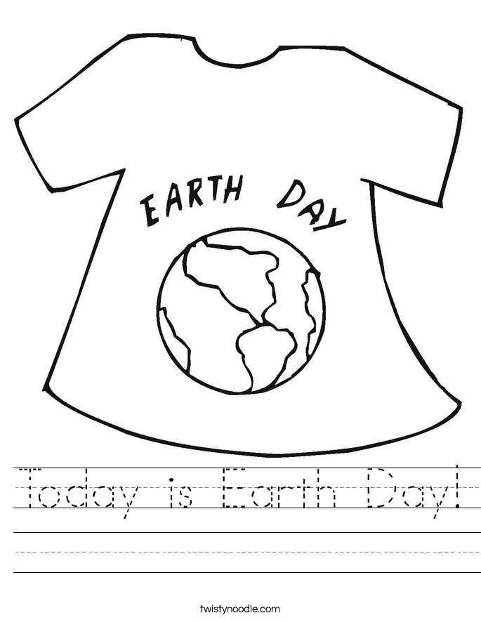 Today is Earth Day Worksheet