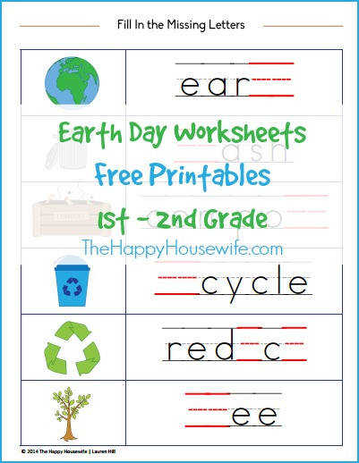 Earth Day Worksheets Free Printables