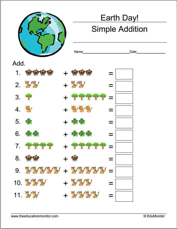 Earth Day Worksheets & Printables