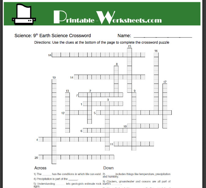 These Earth Science worksheets can help reinforce key skills