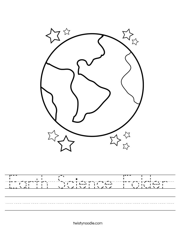 Earth Science Folder Worksheet