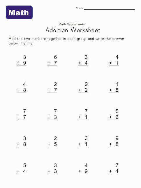 Addition worksheets for kids Kids learn math with these easy addition worksheets Perfect for any math lesson plans These single digit addition worksheets