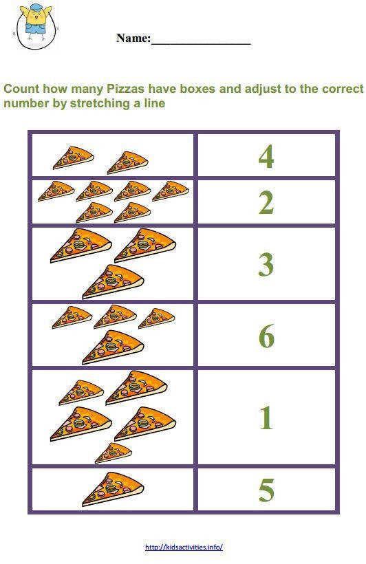 Stretching a line easy math worksheets for kindergarten