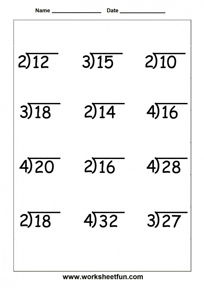 Worksheet Simple Division With Remainders Wosenly Free Easy Multiplication And Worksheets 9 12 Questions Simple