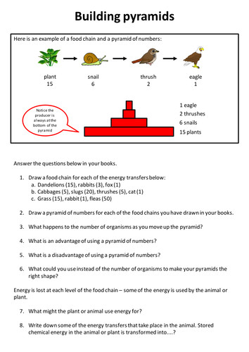 Pyramids of number worksheet & writing frame by neanderthalchick Teaching Resources Tes