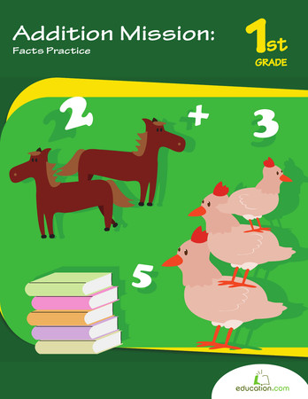 addition mission facts practice workbook preview 0