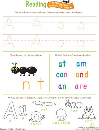 Beginning Reading All About the Letter A