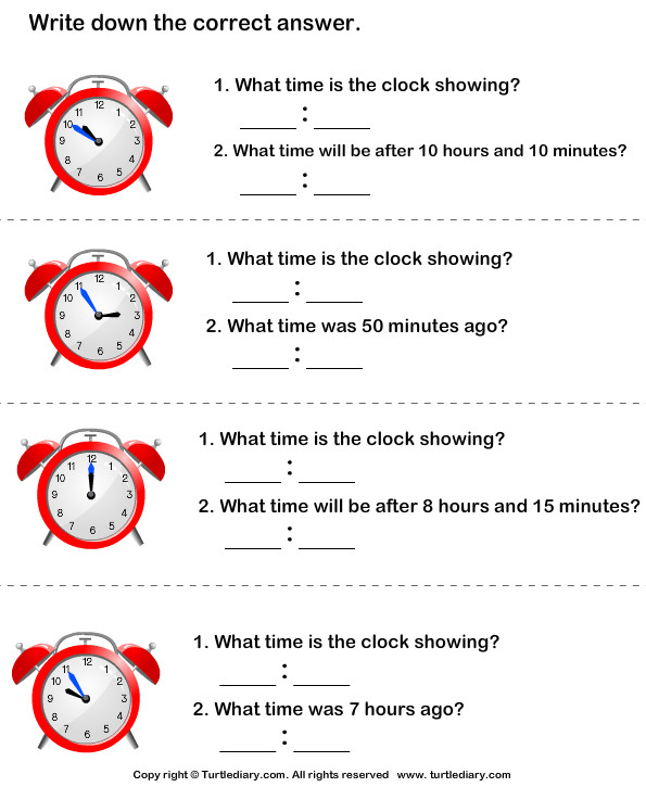 Read Clocks and Write the Time