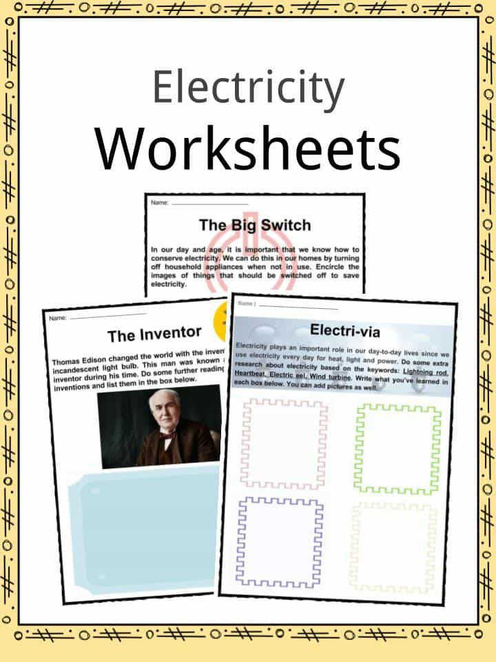 Download the Electricity Facts & Worksheets