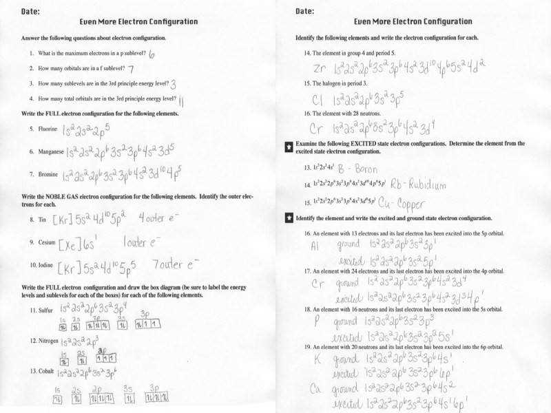 Electron Configuration Practice Worksheet Answers Electron Configuration Practice Worksheet Answers Guillermotull With Quiz Worksheet Electron