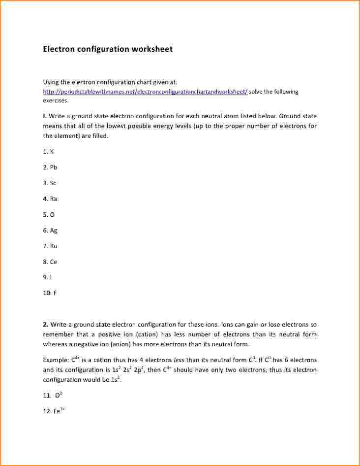 Electron Configuration Worksheet electron Configuration Worksheet 1 728 cb=