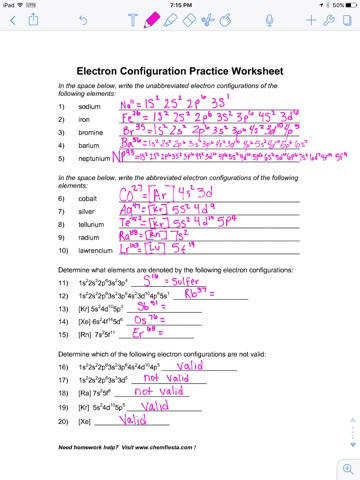 electron configuration worksheet answer key. Black Bedroom Furniture Sets. Home Design Ideas