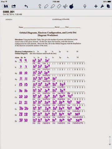 Electron configurations and orbital diagrams 10th higher ed worksheet