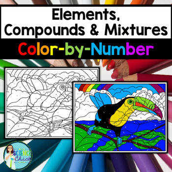 Elements pounds & Mixtures Color by Number