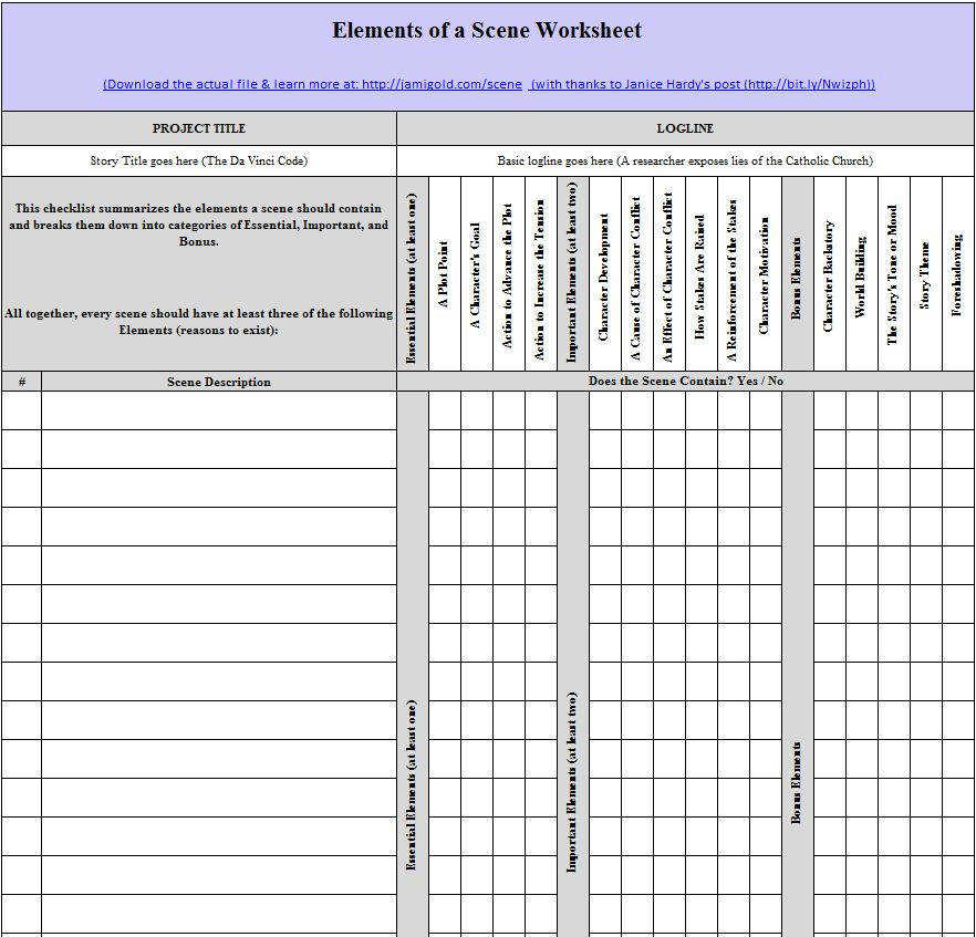 Story Elements Worksheet What s the Setting