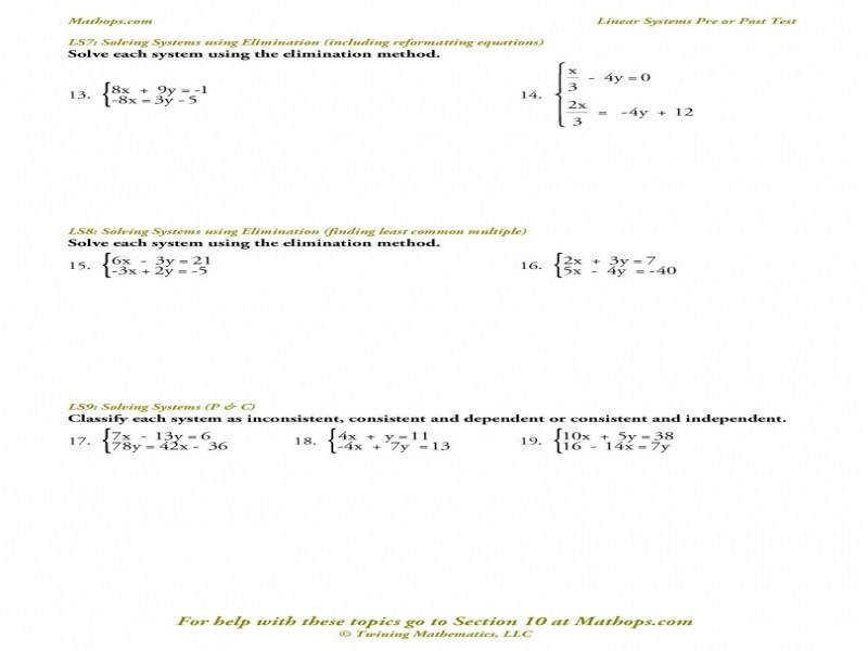 Solving Systems of Equations Elimination Method Christmas Alge besides  likewise  additionally Elimination Method Worksheet   Homedressage besides Alge 1 Equations Worksheet Inspirational solving Systems likewise Solving System Of Equations By Elimination Teaching Resources likewise  further  furthermore Systems Of Equations Elimination Worksheet  150826600008 – Systems besides LS 5  Solving Systems using Subsution and the Distributive likewise Worksheet Solving Systems Of Equations By Graphing The best moreover solving systems of equations by elimination worksheet Paint of free in addition  also  furthermore Systems Of Equations Elimination Worksheet 3 Ways to solve Systems moreover solve system equation math – majicpics club. on systems of equations elimination worksheet