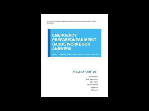 Emergency Preparedness Merit Badge 2009 2012