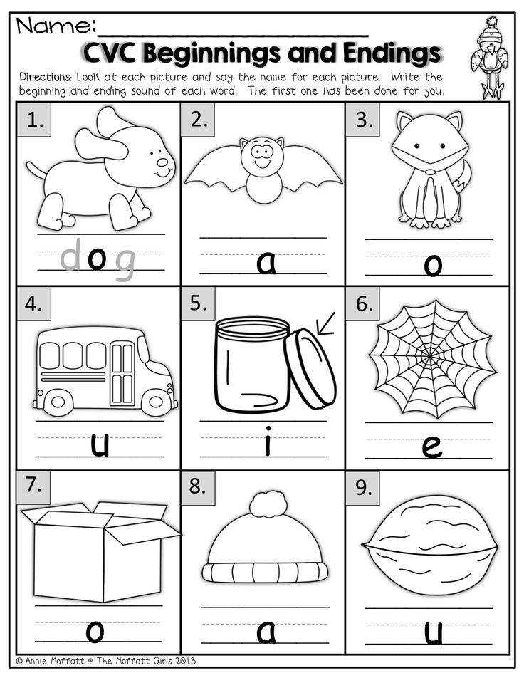 Printable Worksheets writing cvc words worksheets : Ending sounds Worksheets | Homeschooldressage.com
