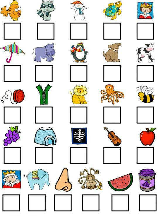 Visuals to ask for beginning or ending sounds beginning sounds Pinterest